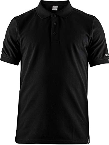 Craft Polo Casual Pique M Polo Chemise, Black, 3 x l