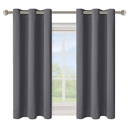 BONZER Solid Grommet Blackout Curtains