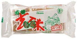 オーサワの有機よもぎ入玄米もち300g (6個入)×3個           JAN:4932828006017