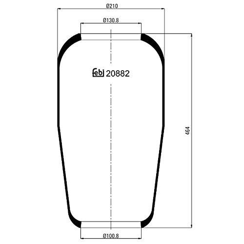 Febi-Bilstein 20882 Fuelle, suspensión neumática
