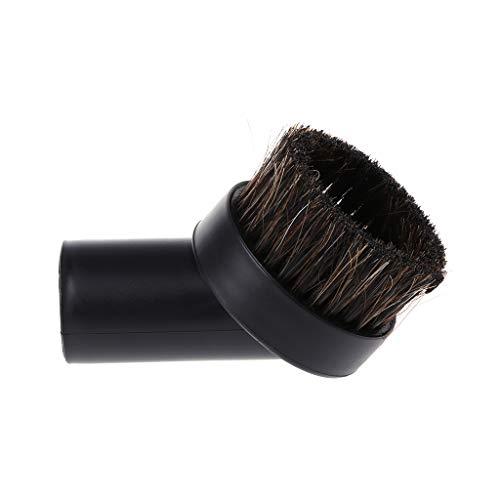 Xuniu - Accesorios para aspiradora de cabezal de cepillo de limpieza redondo de cerdas de caballo mixto 32 mm