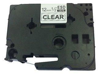 TZe131 12mm x 8m Schriftbandkassette Schwarz auf Farblos Beschriftungsband kompatibel zu Brother P-Touch PT-1000 1005 1010 D200 D210 D210VP D600VP E100 E550WVP H101C H105 H110 H300 H500 P700 P750W