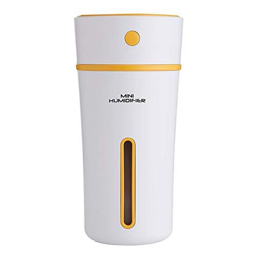 WLG Portátil Humidificador,Usb Casa Oficina Difusor de Aroma,Coche Mini Vaporizador Luz Ambiente Nocturna WLG/naranja / 80 x 65 x 165 mm