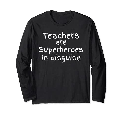 Los maestros de regalos de escuela primaria son superhroes disfrazados Manga Larga