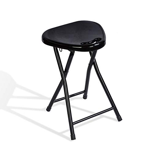Atlantic 4 Pack Folding Stool with Handle, Black