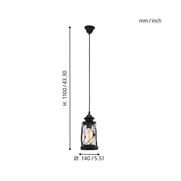 EGLO-Tischleuchte-Bradford-schwarz-mit-Kordelband-creme-Stahl