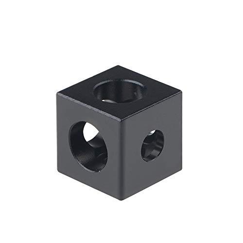 HUANRUOBAIHUO 1pcs for Tres Partes de la Impresora Ajustable Wheel Bracket 3D Cube Corner Corner Prism Conector Openbuilds V-Slot Partes de la Impresora 3D