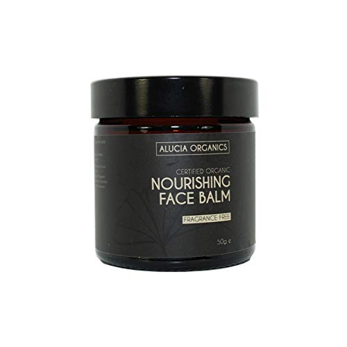 Baume Visage Nourrissant Sans Parfum (Nourishing Face Balm Fragrance Free) certifiée bio de Alucia Organics 50g