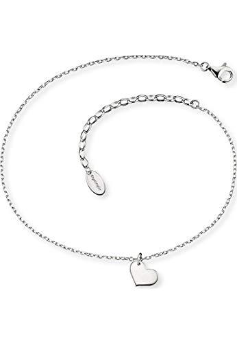 Engelsrufer Damen Fußkette ERF-LILHEART Sterling Silber 27 cm