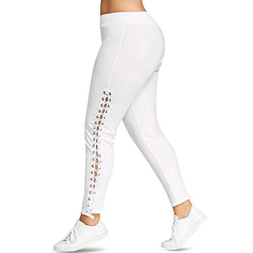 Leggingssize Lace Leggings Women Pencil Pants Casual Tight White Black Elastic Pants Trousers Ladies Clothes XXXL White