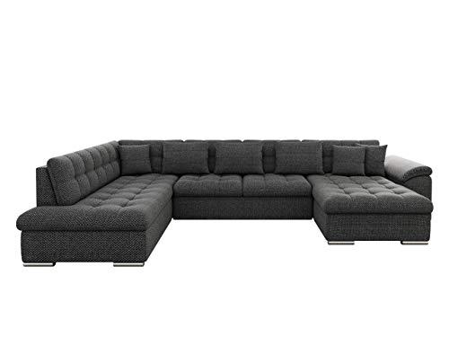 Eckcouch Ecksofa Niko Bis! Design Sofa Couch! mit Schlaffunktion und Bettkasten! U-Sofa Große Farbauswahl! Wohnlandschaft vom Hersteller (Ecksofa Rechts, Majorka 03)