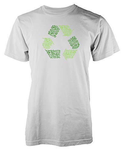 Ramgfx Recycle Green Bicycle Rider RecyclingAdult Kids Unisex T Shirt