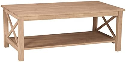 Best International Concepts Hampton Coffee Table, Unfinished