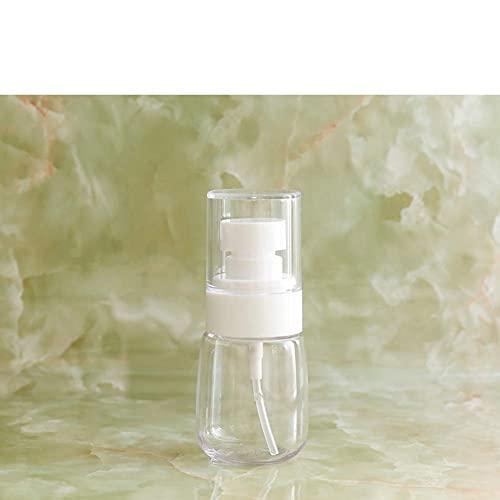 BBNBY Mini dispensador de jabón Recargable, plástico Redondo Transparente, portátil, dispensador de jabón líquido, Adecuado para Viajes al Aire Libre, Blanco, 2 onzas por Taza, m 4x9cm (2x4 pulgad