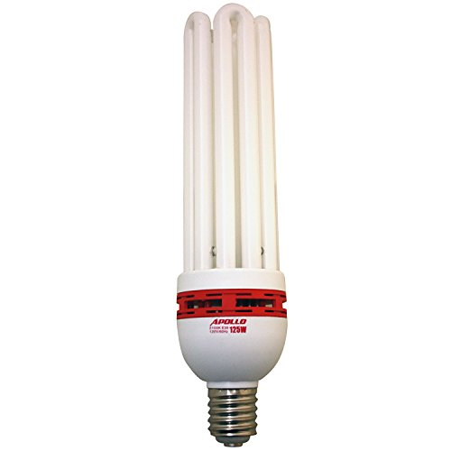 Apollo Horticulture 125 Watt CFL Compact Fluorescent Grow Light Bulb of 2100K for Plant Growing