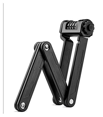 JIEYANG YouCg Huella Dactilar Bloqueo de Bicicletas Aleación de Zinc Aleación de Cuatro dígitos Contraseña Plegable de Cuatro dígitos 8 5 CM Accesorios de Bicicleta de Puerta de Bloqueo