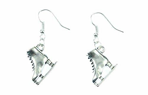 Miniblings Schlittschuhe Ohrringe Eiskunstlauf Winter Eisprinzessin silber - Handmade Modeschmuck I Ohrhänger Ohrschmuck versilbert