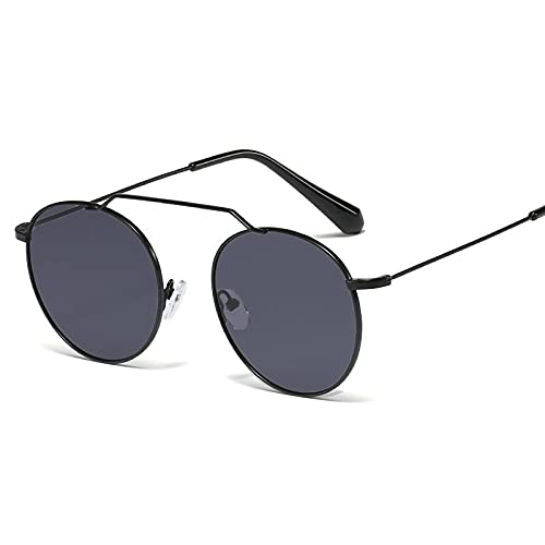 Gafas de sol de estilo de calle de moda de marco redondo de metal de moda de moda de
