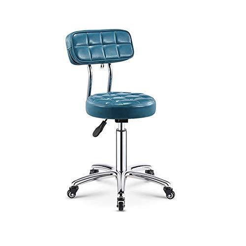 RKRZLB Büro Drehstuhl Schreibtischstuhl Ergonomischer Schreibtischstuhl Schreibtischstuhl Leicht Bürostuhl Platzsparender Drehstuhl Ergonomisches Computerstuhl Bürostuhl (Color : Blue)