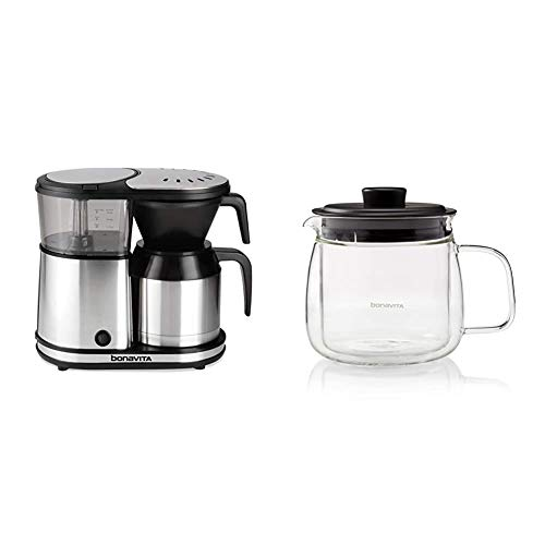 Bonavita 5-Cup One-Touch Coffee Maker Featuring Thermal Carafe, BV1500TS & Double Walled Carafe, BV61500CAD