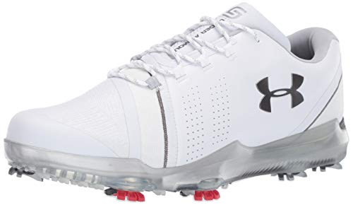 Under Armour Men's Spieth III Golf Shoe, White (102)/Overcast Gray, 12