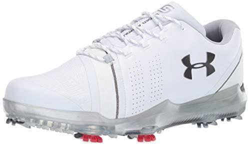 Under Armour Mens Spieth III Golf Shoe, White (102)/Overcast Gray, 9.5