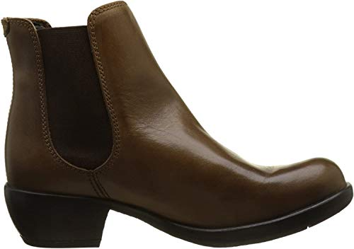 FLY London Damen MAKE Chelsea Boots Stiefel, Braun (Camel 022), 40 EU