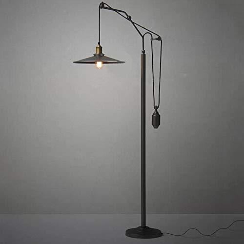 Raelf Lámpara de pie de Metal Negro Retro sofá Industrial lámpara Retro Industrial Estilo Cuello de Cuello de Cisne de la lámpara de pie de la lámpara de pie clásico de Hierro Forjado Fish Chandelier