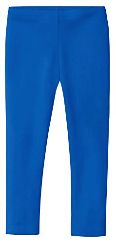 City Threads Girls' Leggings 100% Cotton for School Uniform Sports Coverage or Play Perfect for Sensitive Skin or SPD Sensory Friendly Clothing, Crayon Blue, 4T
