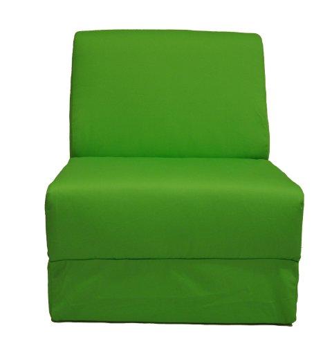 Fun Furnishings Teen Chair, Lime Green Canvas