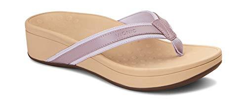 Vionic Damen Zehentrenner-Sandalen Pacific High Tide Zehentrenner – Damen Plateau-Flip-Flops mit orthopädischer Unterstützung des Fußgewölbes, Violett (mauve), 39 EU