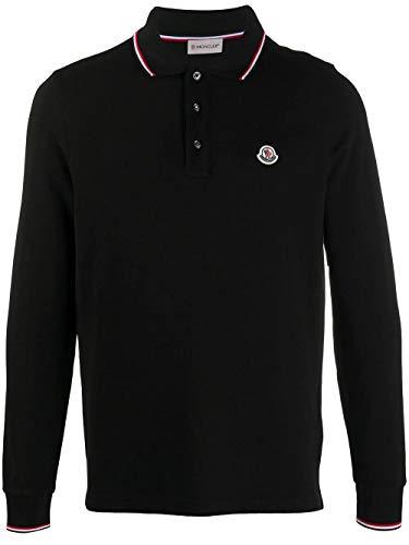 Moncler Luxury Fashion Herren 8B7010084556999 Schwarz Baumwolle Poloshirt | Herbst Winter 20