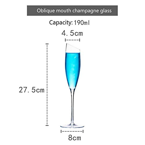 BWM Oblique Mond Champagne Glas Cup Proeven Goblet Sprankelende Wijn Cup Bar Drinkware