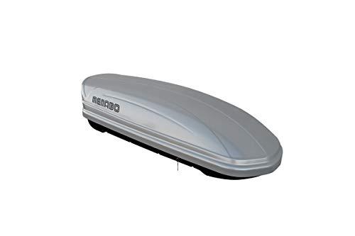 MENABO Mania 320 Liter/11 Cubic Feet Roof Box, Silver