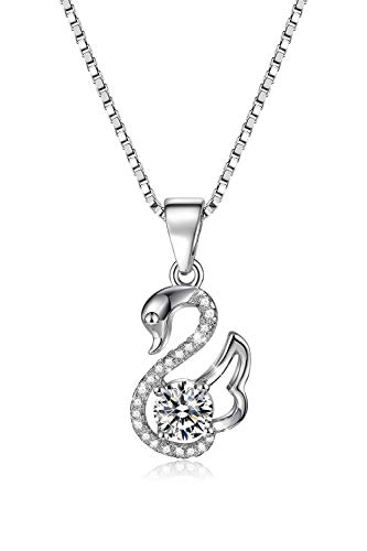 (DISKON 50%) Sterling Silver Swan Necklace $ 25.00 - Kode Kupon