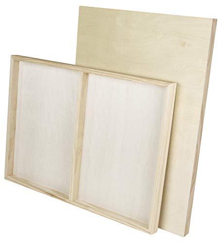 Paintersisters Malgrund aus Holz, 2 Stück je Größe 50 x 70 cm