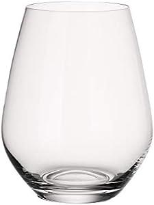 Villeroy & Boch Ovid Set de vasos de agua, 4 piezas, 420 ml, Cristal, Trasparente