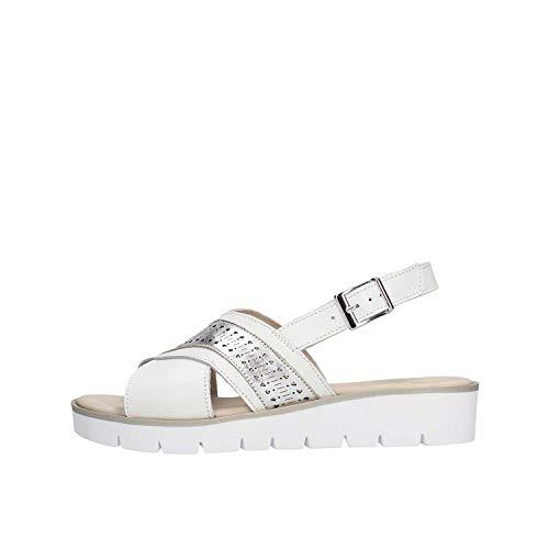 GRUNLAND SA2312 Sandalo Donna Bianco 37