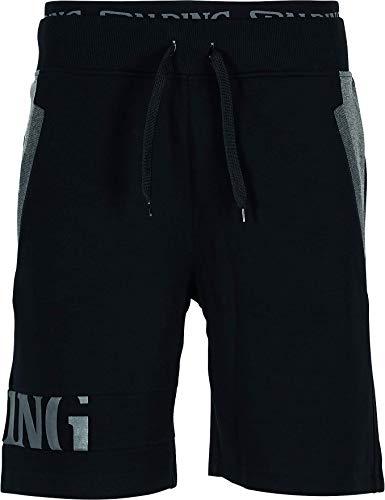 Spalding Mens 300700601_XXXL Shorts, Black
