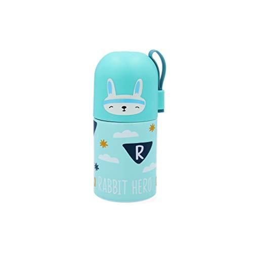 Quid BOT 35CL GO Hero QD Termo botella en acero inox, 35 cl, Interior doble pared, Tapón cierre hermético, 12 horas, conejo, 18/10_304, Multicolor