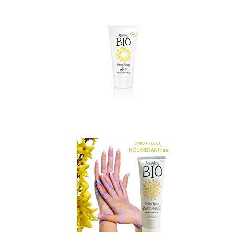 Duo de produit de beauté MARILOU BIO - Gamme Classic - Crème de jour - Crème pour les mains