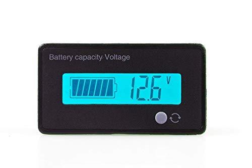 DollaTek LCD-batterijcapaciteit-monitorweergave 12V/24V/36V/48V loodaccu statusweergave lithium batterijcapaciteit tester spanningsmeter monitor voor voertuigaccu - blauwe achtergrondverlichting