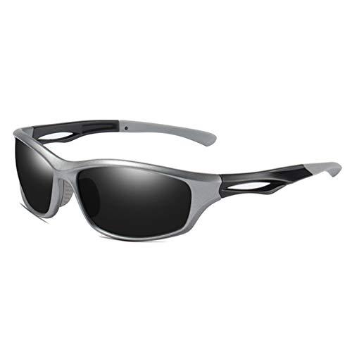 VBNM gepolariseerde zonnebril voor mannen en vrouwen, kleur spiegel lens 100% UV blokkeren sport zonnebril voor vissen/rijden/golf/outdoor
