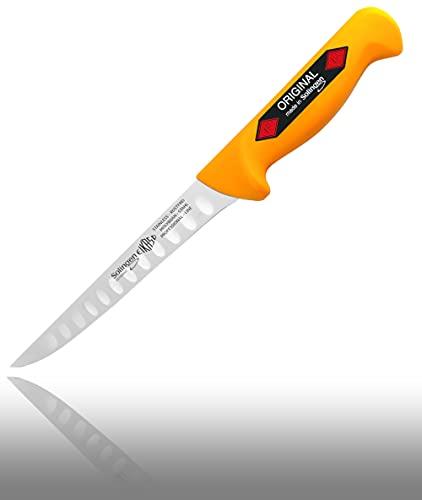 Solingen® Eikaso® Stech,Ausbein,Abhäute,Schlachter, Metzgermesser Butcher Knife (Ausbeinmesser gerade mit Kullen 16cm)