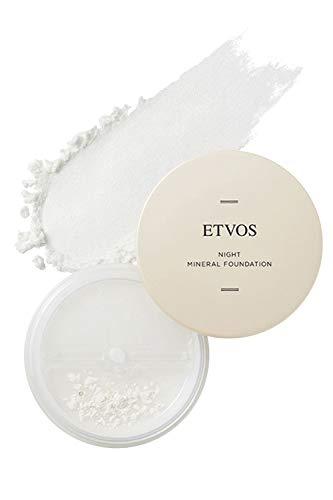 ETVOS ナイトミネラルファンデーション 5g [ 化粧下地 フェイスパウダー 兼用] ツヤ肌 皮脂吸収 崩れ防止 つけたまま眠れる [ブラシ パフ別売]