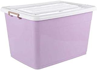 Lpiotyucwh Paniers et Boîtes De Rangement, Boîte de Rangement en Plastique, bacs de Rangement avec Couvercle fixé, Couleu...