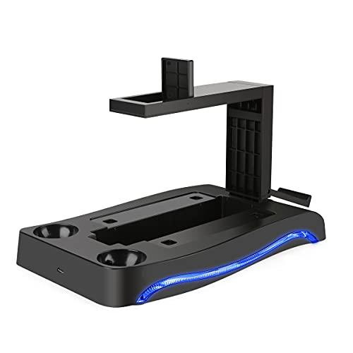 PSVR II Ständer, PS4 VR Brille Ständer, LIDIWEE Multifunktion PS Move Ladestation LED-Umgebungslicht PS4 VR Ständer Halterung für PlayStation 4 PS VR II CUH-ZVR2 2th Generation