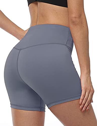 YUANRANER Workout Shorts for Women High Waist Biker Yoga Running Athletic Short with Pockets