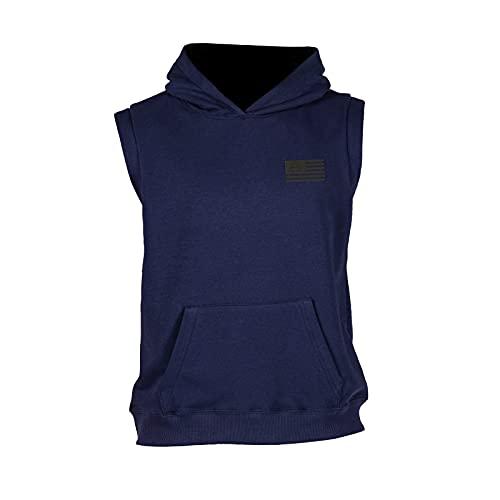 GSA Organic Cotton Sleeveless Hoodie Camiseta, Tinta, S para Hombre