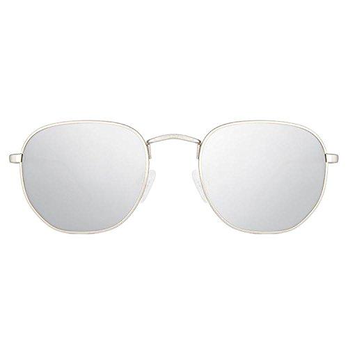 Maltessa Soho Gafas de sol, Plata, 52 Unisex